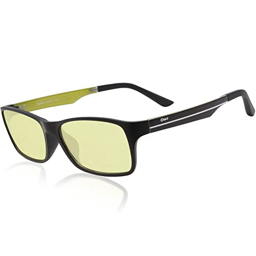 Duco Full Rim Ergonomic Advanced Computer Glasses Anti Blu-ray Yellow Arms 223