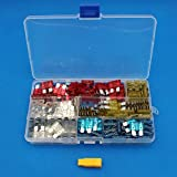 Raogoodcx 1pcs Fuse Puller and 160pcs Professional Standard Medium Blade Car Truck Fuses Kit Set Assorted 10A,15A,20A,25A