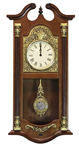 Large Traditional Solid Wood Pendulum Wall Clock
