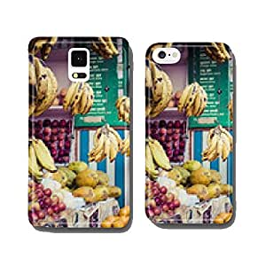 The street vendor sels his fruits and vegetables in Thamel in Ka cell phone cover case Samsung S5