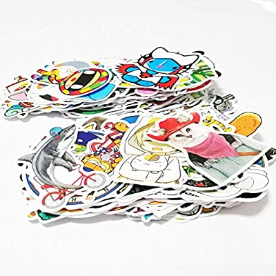 200 Pack Vinyls Sticker Decals for Mug, Cell Phone, Door, Wall, Laptop, Cars, Graffiti, Motorcycle, Bicycle, Skateboard Luggage, Water Bottle, Bumper Stickers Decal Hippie (Type A(200 Pattern 2 Pack): Automotive