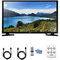 Samsung UN32J4000 - 32-Inch LED HDTV J4000 Series + Hookup Kit - Includes TV, 6 Outlet Wall Tap Surge Protector with Dual 2.1A USB Ports, HDMI Cable 6 and Performance TV/LCD Screen Cleaning Kit