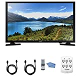 Image of Samsung UN32J4000 - 32-Inch LED HDTV J4000 Series + Hookup Kit - Includes TV, 6 Outlet Wall Tap Surge Protector with Dual 2.1A USB Ports, HDMI Cable 6' and Performance TV/LCD Screen Cleaning Kit