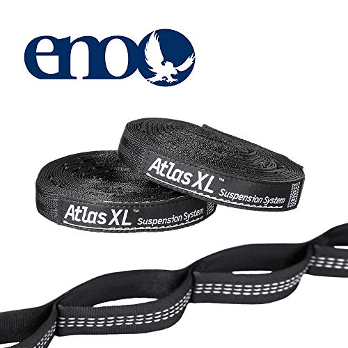 ENO Eagles Nest Outfitters - Atlas Straps XL, Hammock Suspension System, Black/Grey
