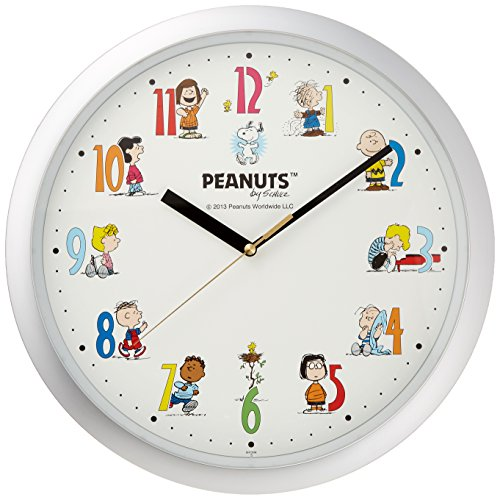 [ Snoopy ] Snoopy for each time of the dial your friend is studded hanging clock 4KG712MA19 by Rhythm Clock