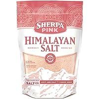 Sherpa Pink Gourmet Himalayan Salt, 5 libras de grano fino. Sabor increíble. Rico en nutrientes y minerales para mejorar su salud