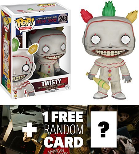 Twisty: Funko POP! x American Horror Story Season 4 - Freak Show Vinyl Figure + 1 FREE Official American Horror Story Trading Card Bundle - Ahs Show