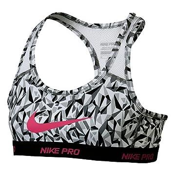 Nike niña - Sujetador Deportivo ya hyprcl Pro aop1bra YTH, Gris, M, 811965 - 065: Amazon.es: Deportes y aire libre