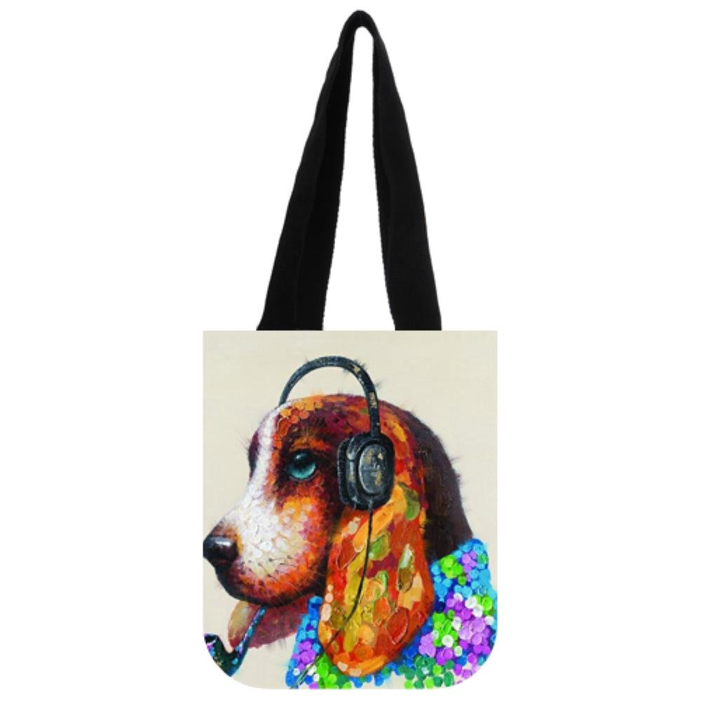 GIFT FOR PET DOG OWNER Personalised /'Beagle/' Dog Canvas Tote Bag