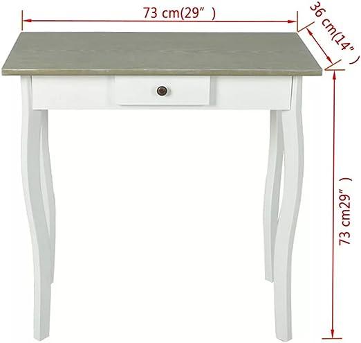 Nishore Tavolo Consolle in MDF Stile Rustico Nero Tavolino Laterale Ingresso