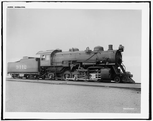 Photo: Mikado type,railroad locomotives,engines,tracks,train,transportation,travel,1910
