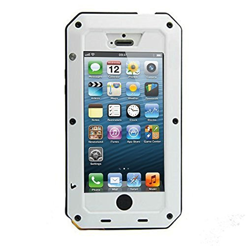 New Waterproof Shockproof Aluminum Gorilla Glass Metal Military Heavy Duty Armor Bumper Cover Case for Apple iPhone 5 5S Home...