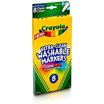 Crayola 8ct Washable Markers Fine