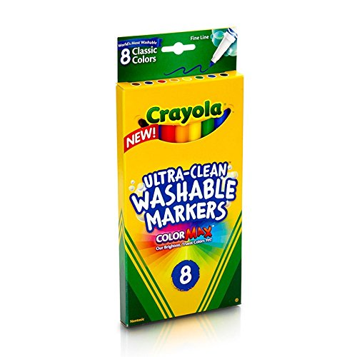 Crayola 8ct Washable Markers - Marker Durable Colored