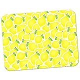 Extra Thick Rubber Mouse Pad / Mat - 9.6 x 7.5 x 0.2 inches - Lemon Fruit