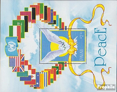 Palau-Islands block10 (Complete.Issue.) 1991 Liberation Kuwaits (Stamps for Collectors) Birds