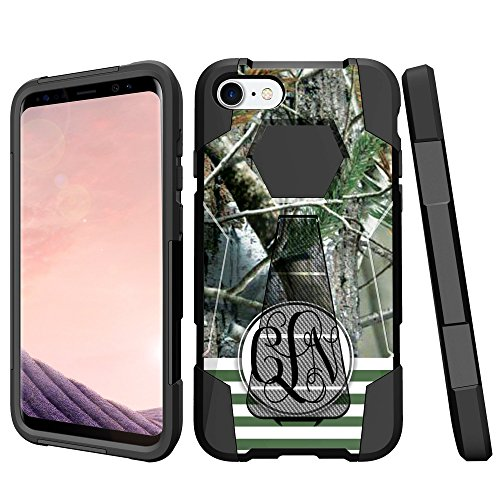 Camoflauge Case - MINITURTLE Cute Customized Camo Case Compatible with Apple iPhone 6/iPhone 6s [ADD YOUR INITIALS][Customized Camoflauge Design] - Tree Camo on Stripes