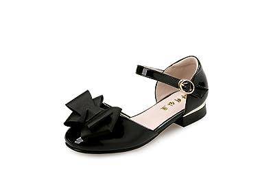 fb8f3a33f29e Flyrioc Little Girl s Heel Sandals Ballet Dress Shoes(Little Kid Big Kid)  Black