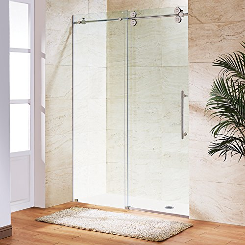 VIGO Elan 68 to 72-in. Frameless Sliding Shower Door  with .375-in. Clear Glass and Chrome Hardware by Vigo
