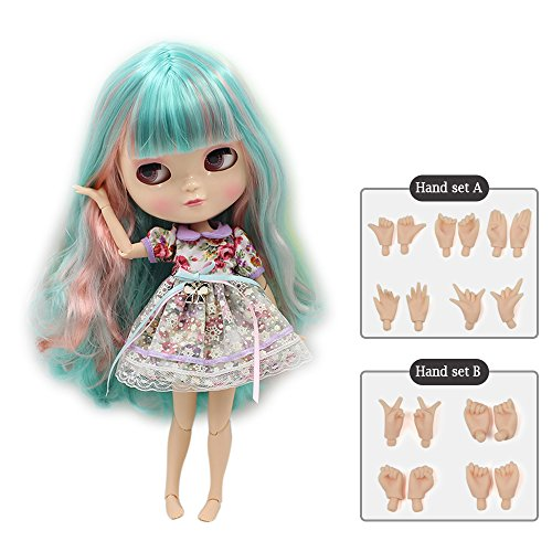 The 30.5cm ICY Nude Doll is The Same as Blythe Doll,can Change The faceplate and Clothes for DIY Maker,19 Joint Body Doll is Suitable for Girls Present and Best Gift. (COLORFUL2)