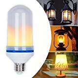 LED Flame Effect Fire Light Bulbs, E26 E27 LED Flickering Flame Light Bulbs Lamps Lantern, Best Decorative Atmosphere light for Home Bar Hotel Party Christmas Festival (1 pack 1.8w)