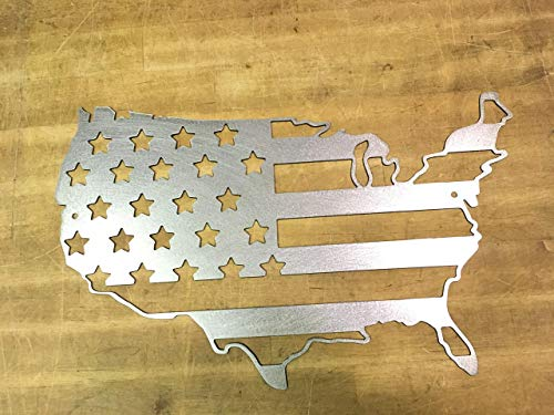 United States Of America outline Flag steel metal wall art
