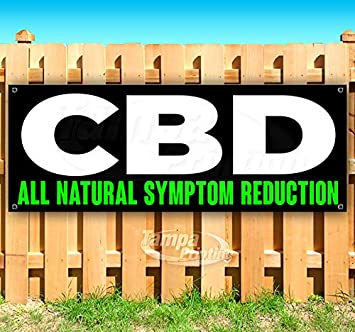 Advertising Many Sizes Available Store CBD Natural Symptom Reduction Extra Large 13 oz Heavy Duty Vinyl Banner Sign with Metal Grommets Flag, New