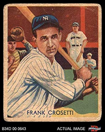 Amazoncom 1935 Diamond Stars 86 Frank Crosetti New York Yankees