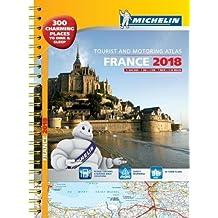 France 2018 Tourist & Motoring atlas A3-Spiral