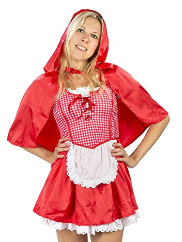 Amscan Women's Red Riding Hood Halloween Costume Large (10-12) (Little Red Riding Hood Cosplay)