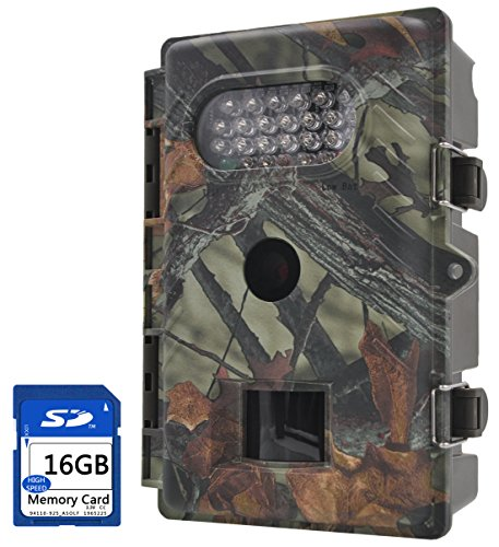 FULLLIGHT TECH 720P 8.0MP Game & Trail Hunting Camera Low Glow Outdoor Motion Activated wildlife Camera with Infrared Night Vision 1 Year Manufacturer Warranty (Low Glow+16GB)