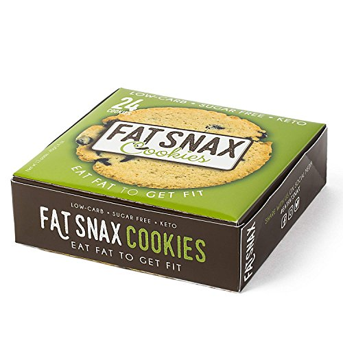 Large Product Image of Fat Snax Cookies - Low Carb, Keto, and Sugar Free (Chocolate Chip, 6-pack (12 cookies))