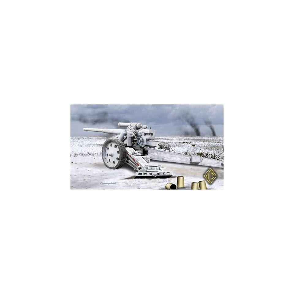 Ace 1/72 Heavy 10cm Gun 18 (Bleiglanz) WWII German Gun Kit