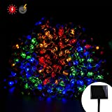 RPGT Solar Cherry Blossom String Lights 200LED USB Charging Fairy String Lights 8 Modes IP44 Solar Powered Starry Lighting (Multi Color) for Outdoor Christmas Garden Wedding Party Holiday Decoration For Sale