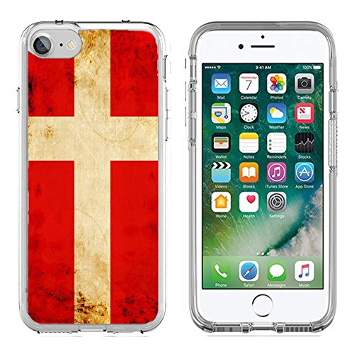 MSD Apple iPhone 7/iPhone 8 Clear case Soft TPU Rubber Silicone Bumper Snap Cases iPhone7/8 Danish flag with a vintage and old look Image 15612737 Customized Tablemats Stain Resistance Collector Kit (Transparent Kit Stain Tip)