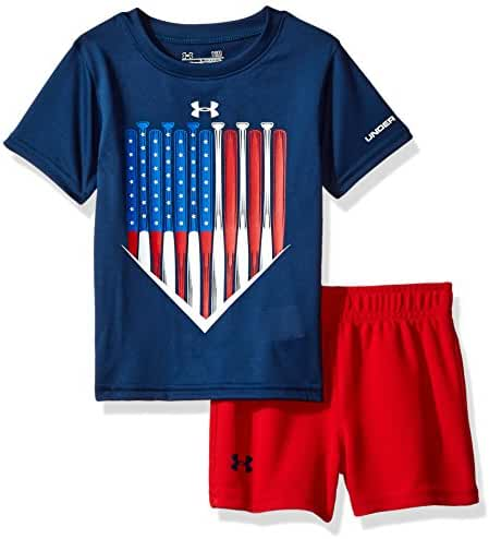 Under Armour Baby Boys' Bodysuit OR Infant Tee/Tank Short Set