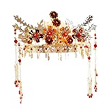 Wedding Crown, Beautiful headdress/Bridal Headwear Ancient Costume Grass And Clothes And A Simple Chinese Wedding Ceremony.