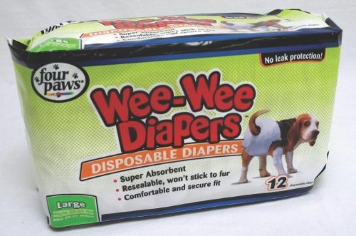 Four Paws Wee Wee Diapers- White Large 100512252-18814