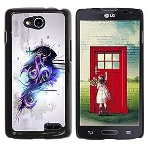 LECELL -- Funda protectora / Cubierta / Piel For LG OPTIMUS L90 / D415 -- Purple & Black Abstract graffiti --