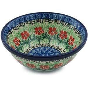 Polish Pottery Bowl 5-inch Maraschino