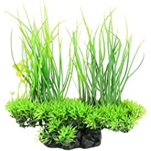 CNZ Aquarium Decor Fish Tank Decoration Ornament Artificial Plastic Plant Green (8.3-inch Green)
