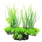 buy CNZ Aquarium Decor Fish Tank Decoration Ornament Artificial Plastic Plant Green (8.3-inch Green) now, new 2018-2017 bestseller, review and Photo, best price $4.80