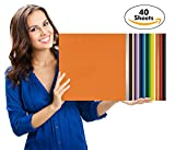 Art-in-Shock 40 Vinyl Sheets Premium Permanent Self Adhesive Set | 12''x12'' | Matt, Glossy & Metalized Colors | Easy To Weed & Stick | For Arts & Crafts, DIY Projects, Wood Signs, Home Décor, Cups