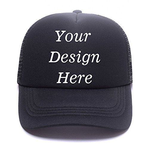 SW&IM Men Womens Custom Hat Graphic Print Design,Team Christmas Fashion Trucker Hats (T-Black)