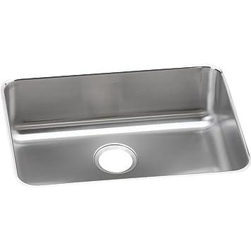 Elkay Lustertone ELUH2317 Single Bowl Undermount Stainless Steel Kitchen  Sink