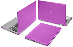 """mCover Hard Shell Case for 13.3"""" Dell Inspiron 13 7373/7370 2-in-1 Convertible (NOT Compatible with Older Dell Inspiron 7347/7348 / 7352/7359 / 7368/7378 Models) Laptop (I13-7373 Purple)"""