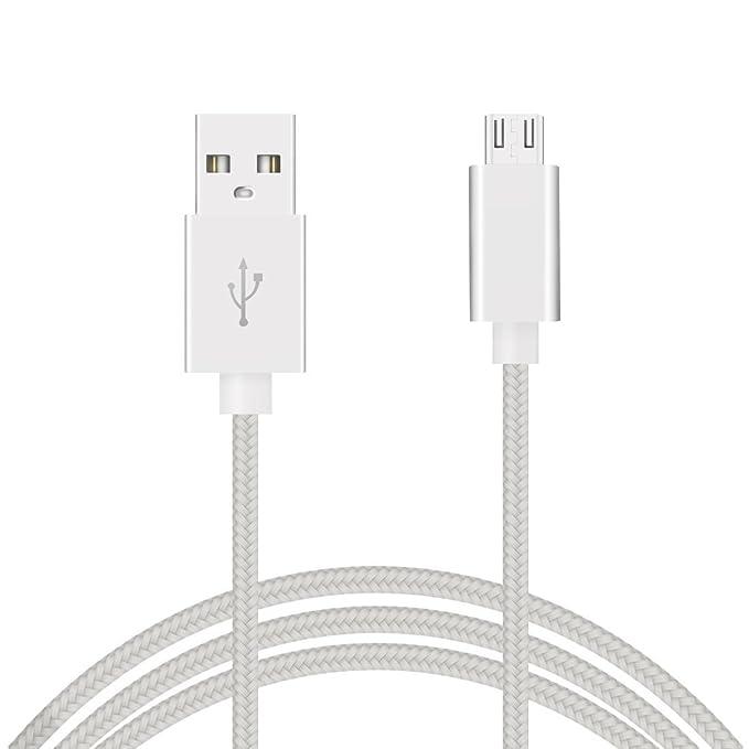Câble micro uSB 3m en nylon tressé haute qualité, câble chargeur micro uSB 3mètres, câble uSB à micro uSB charge rapide 2A et synchronisation de données,