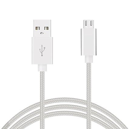 Cable micro usb 3m de Nylon trenzado alta calidad cable cargador micro usb 3 metros cable usb a micro usb carga rápida 2A y sincronización de datos ...