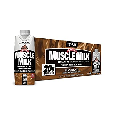 12-PACK Muscle Milk Ready-To-Drink Chocolate Shake 11oz (18g of Protein Per Serving)