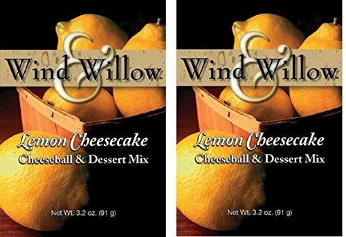 Cheesecake Cheeseball - Wind & Willow Sweet Cheeseball and Dessert Mix - 3.5 Oz. (2-pack) (Lemon Cheesecake) by Wind & Willow